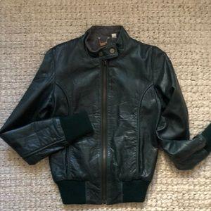 Designer Leather Bomber Jacket ✨| NWOT